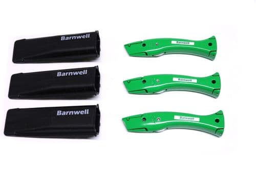 Barnwell Pack of 3 Dolphin Knives and Holster - Green